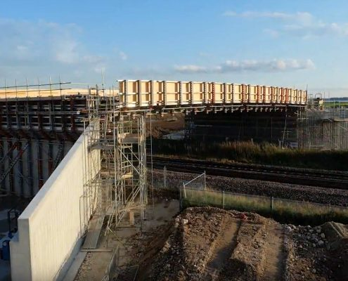 time lapse, time lapse uk, brough relief road, transport, rail
