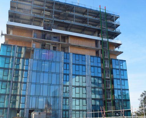 time lapse, time lapse uk, construction, Hill House, window, glazing, student accomodation