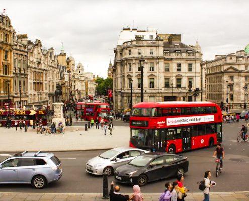 time lapse, time lapse uk, London, Trafalgar Square, street, city