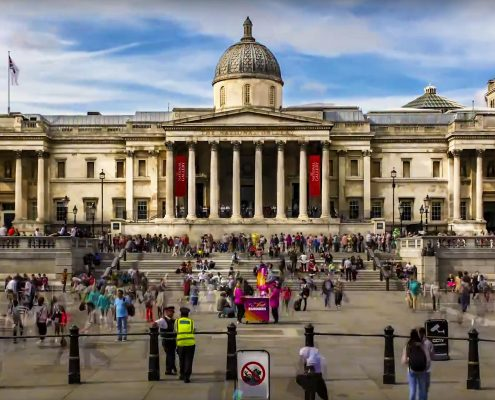 time lapse, time lapse uk, London, Trafalgar Square,