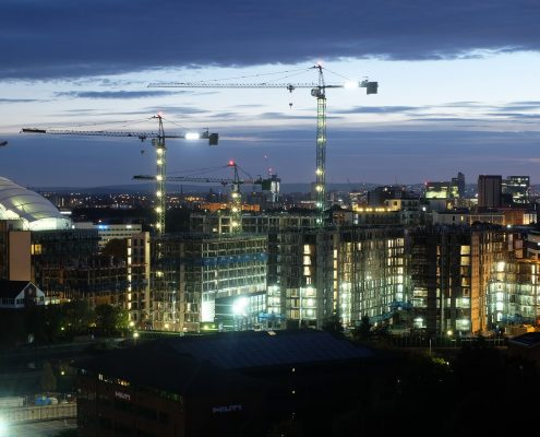 time lapse, time lapse uk, clippers quay, manchester, construction