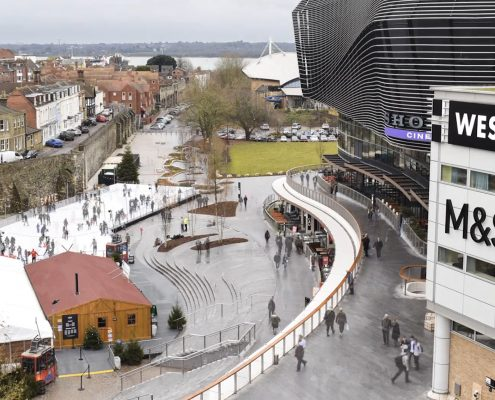 time lapse, time lapse uk, west quay, southampton, ice rink, shopping centre, winter