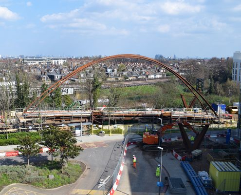 time lapse, time lapse uk, Chiswick Footbridge, construction, Chiswick