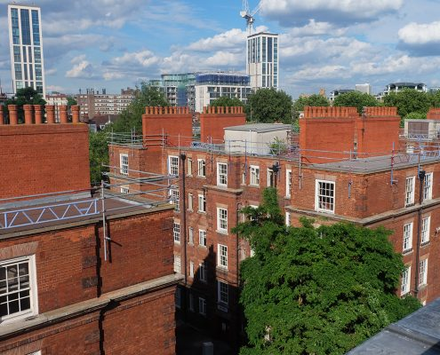 Lisgar Terrace, regeneration, construction, rooftops, time lapse,