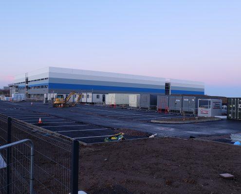 time lapse, time lapse uk, CEF Biggleswade, warehouse, Bowmer and Kirkland