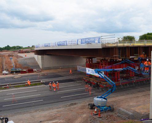 time lapse, time lapse uk, M1 Overbridge, Leicestershire, bridge