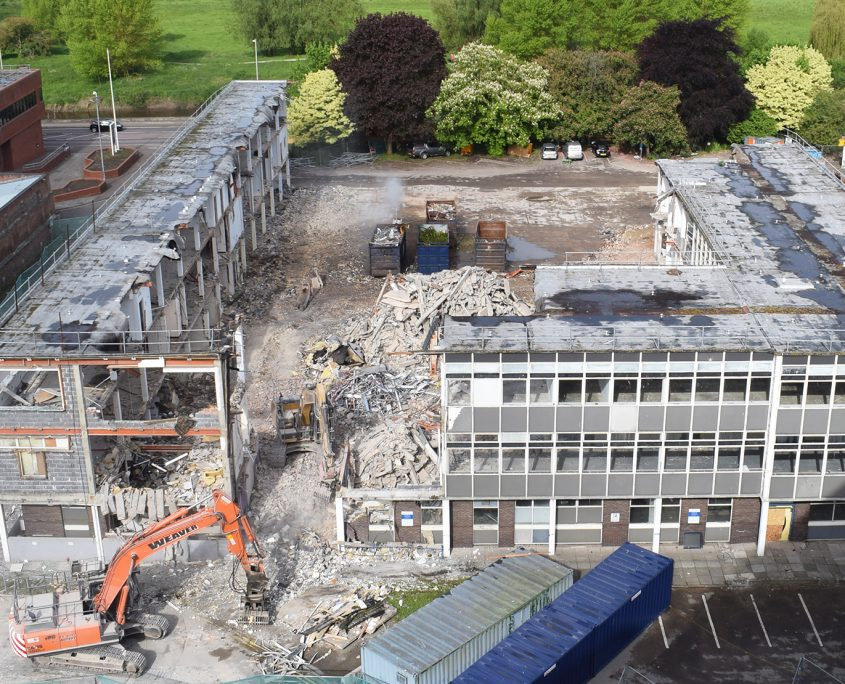 time lapse, time lapse UK, Quayside House, Gloucestershire Council, Gloucester, demolition, council