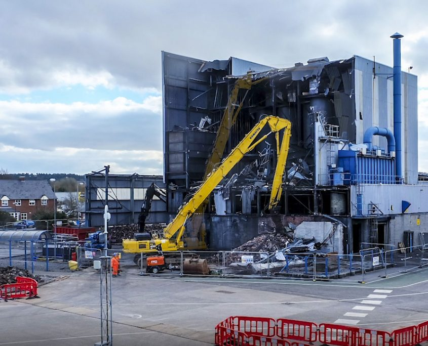 time lapse, demolition, morgan advanced handling, swansea