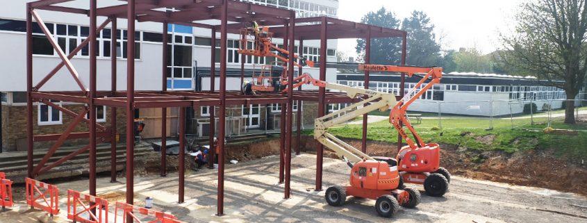 time lapse, sir joseph williamson math school, school, education, new build, construction, kent