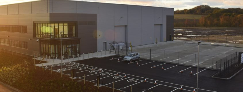 advanced manufacturing park, construction, time lapse
